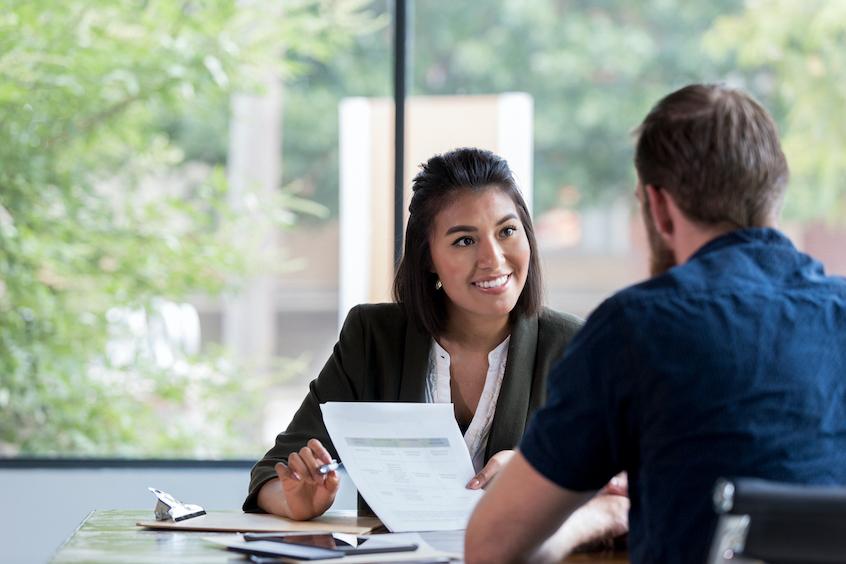 business-woman-at-bank-credit-facilities