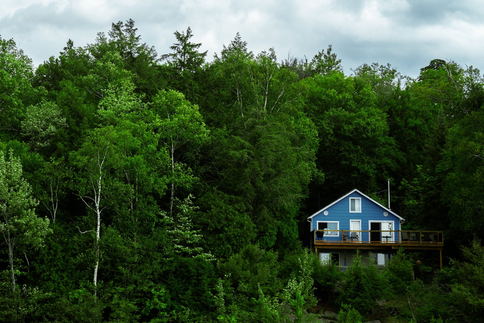blue-cottage-in-green-forest-IRA-custodian