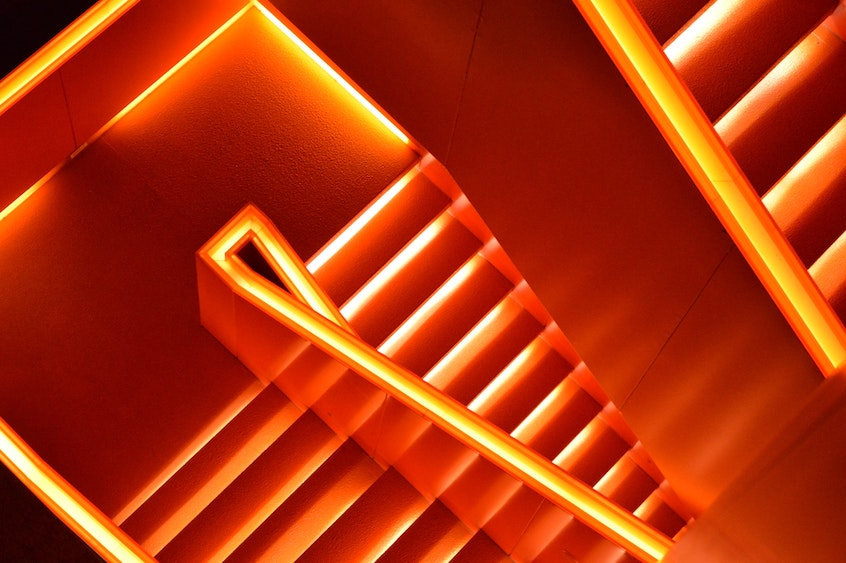 lit-up-staircase-default-loan-process