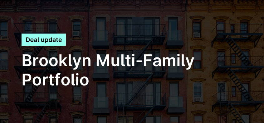 Banner over Brooklyn brownstones including updates on multi-family portfolio deal
