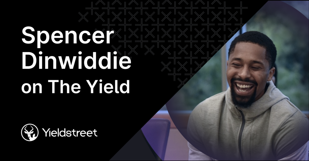 photo showcasing investor and NBA player spencer Dinwiddie for his recent appearance on Yieldstreet's The Yield